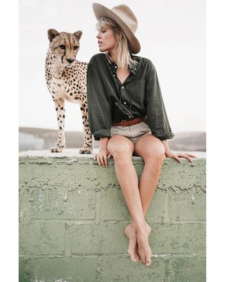editorial style fashion travel fashionphotographer wildlife southafrica capetown photoshoot fredsterfotos availablelight cheetah sigma35mmart