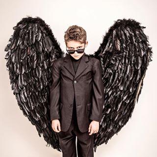 rayban blackfeathers fallenangel suit blackwings blacksuit son