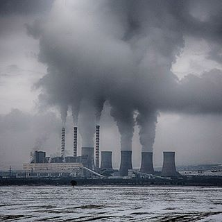 photojournalism coal powerplant snow