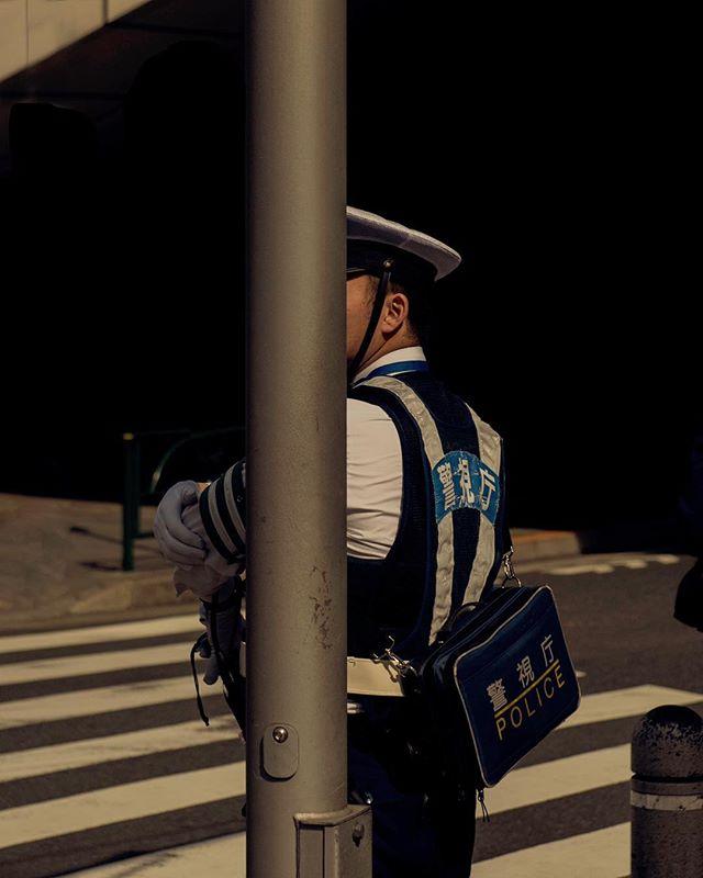 police tokyo japan downtown