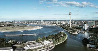 airshot duesseldorf hexacopter medienhafen panoramic rhein rheinturm rhineriver skyline sonya7r