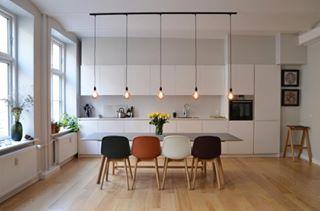 wideangle roomporn photography scandinaviandesign lightbulb eameschair danishdesign realstate livingroom eames diningroom kitchendesign interiordesign