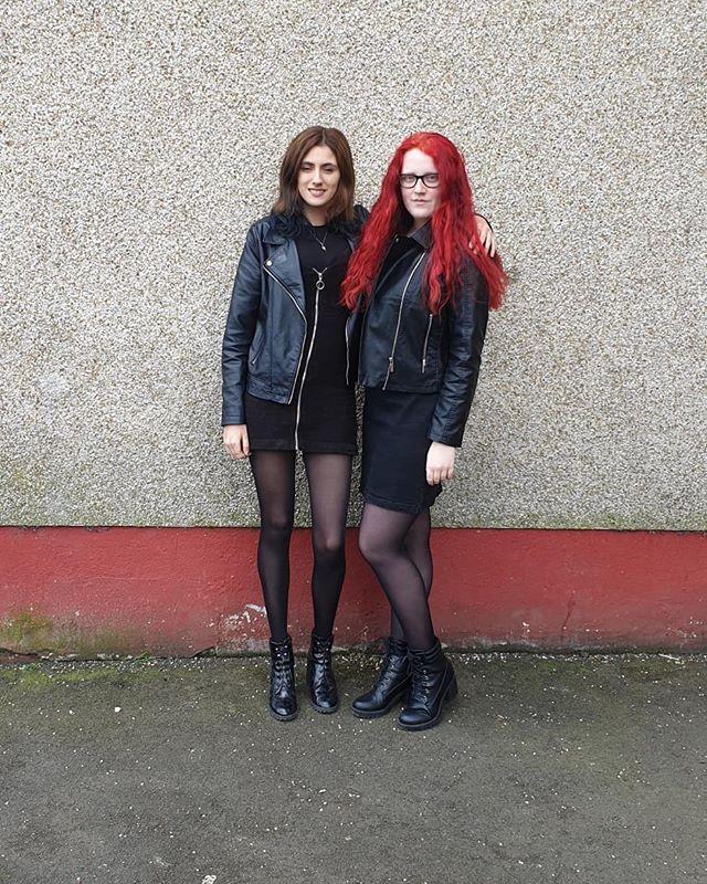 rockerchick redhead goth bestiegoals redhair friends gothgirl scotland