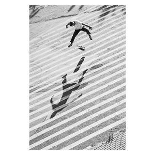 lines leicacraft leicaphotography blackandwhitephotography blackandwhite treflip capturestreets leicaphoto shadowplay photooftheday light bnw photography spi_action stripes shadows bnwmood style poland kubabaczkowski skateboarding