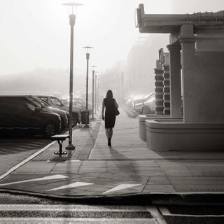 silhouettephotography lifestylephotographer visualstoryteller oceanmist foggyday newnormal newday walkingtowardtheunknown apocalypse extraordinarymoment extraordinarymoments