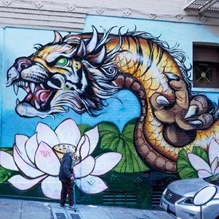 asien dragon graffiti oldgirl outdoorfotografie sanfrancisco streetfotography usa