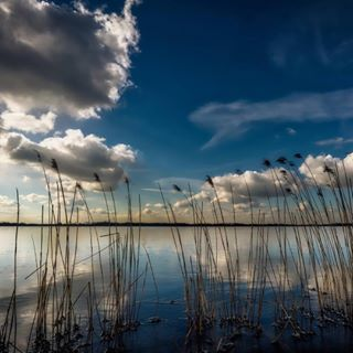water cloud cold sky lake blue clouds ice