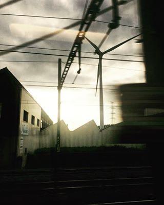 lines industrial travel photography belgium photoshoot train lanscape dusk