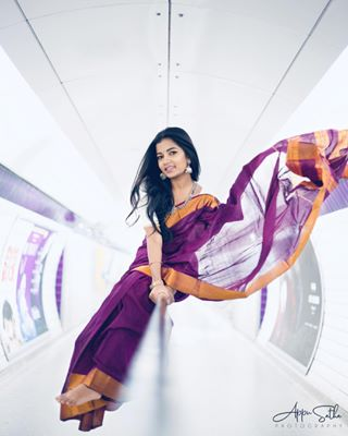 makeup nisha metallic confidence purple tamilgirl portrait culture pride tradition jewellery costume ranyasarees tube appusathaphotography photography canonphotographer tamilmodel saree modelling london photo tamil concept fashion model