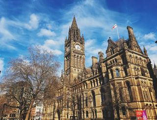 england manchester albertsquare romanesquearchitecture blue secretmanchester skys catherdral townhall