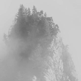 gothic mountains autumn mythenweg alps fog bw dust