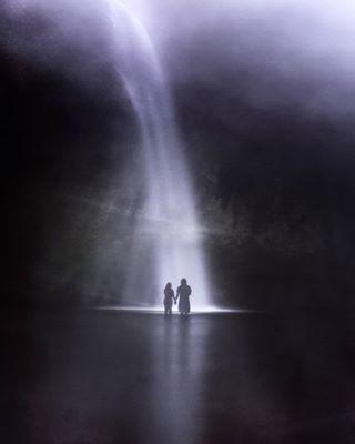 art artphotography cascada colombia couple dark dream lago lake largaexposicion longexposure nacht night pareja surreal surrealism surrealismo wasserfall waterfall