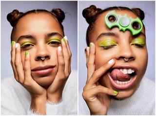fashion broncolor studiophotography fashionphotography fidgetspinner creative studiolighting mua beautyphotography editorial beautyshot