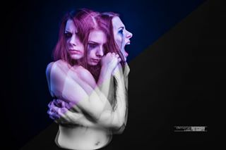 locked pic dissociation hate bw blackandwhite girl beautiful redhead outside psycho expressionismus expressionism portraitsmadeingermany blue picture anger inside nikon doubleexposure fury black photography color disorder disturbed mirror darkphotography woman life