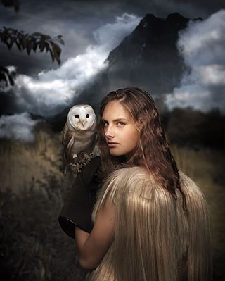 newworld beauty photoshoot uilennist fantasy pure model photography owl