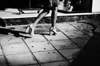 woman blackandwhite steps mine toms