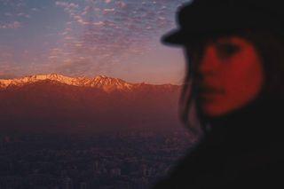 sunset cordillera santiago