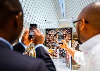 everydaynewyork tourist newyork michaelangelo worldtradecenter art eve photojournalism adam