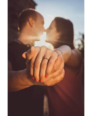 sunset photographize ring budapest colors couple park engagement followforfollowback peoplecreative follow love instaart canon daylight instadaily kiss closeup people