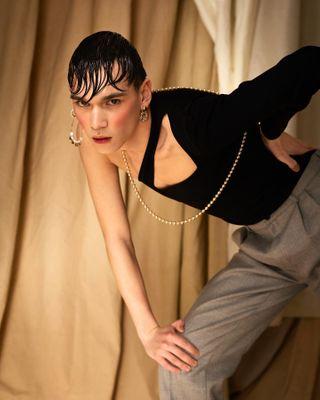 thisaintartschool cherrydeck genderfluid gender fashionstatement fashionphotography wetlook freshface dutchphotography 60sfashion futurefashion androgenousfashion androgynous genderneutral genderfree