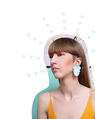 monday dots productphotography cool madeinestonia statementjewellery photography cute fullcolour designstudio jewellerydesign earrings contemporaryjewellery design
