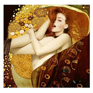 art photoshop collage noia gold sundayfunday klimt