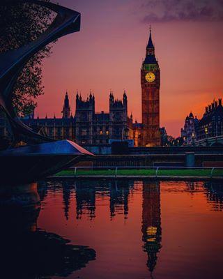 london redsunset bigben thisislondon reflection sundayben