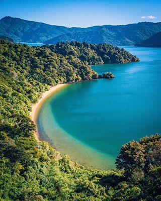 airnewzealand bay borderlesscollective marlboroughsounds picton explorenewzealand hobbitland newzealand lushgreen travel