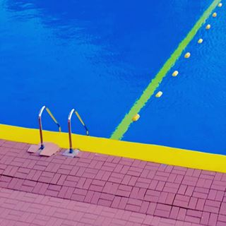 blueandyellow cityshoots geometricshapes photooftheday pool pop shapes square summer swimingpool warsaw water