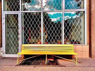 bench chillout citybreak iwanttobenchfree popwarsaw takeasit warsaw yelllowbench