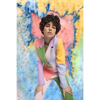 watercolor suit ootd mixedmedia summertime model photooftheday photography brogger style makeup digitalart pastels curleyhair ss19 graphiceyeliner fashion art editorial london splash photographer