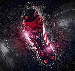 actionphotography adidas joergkritzer joergkritzerphotography kickit redandblack shiny soccerfield stillifephotography theshoe