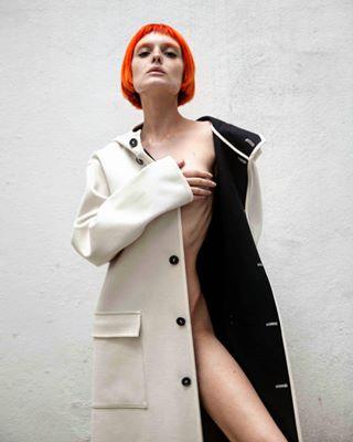 ginger fashioninspo frecklesonfleek longcoat freckles shooting frecklesgirl model redhead fashion modelpose redhairgirl shoot photoshoot shortfringe redhairmodel redhair