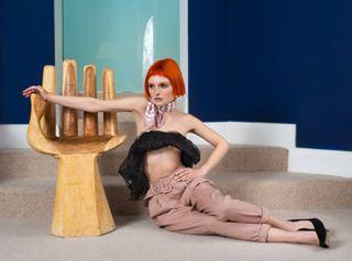 fashioninspo model shooting bosslady retouching shoot redhair fashion photoshoot freckles ginger styling pastelcolor redhead