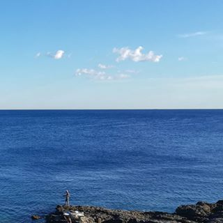 pula half clouds blue sea holiday croatia🇭🇷 simmetry sky