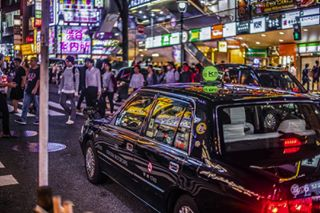 architecture asia backstreet city citynights color crowd culture japan lights night nikond850 people photography taxi tokyo urban