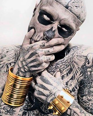 photographer picoftheday art throwback narkielun berlin gold inked design men boy rickgenest nyc jaceknarkielunphotography tattoo jewellery zombieboy zombie warsaw ink shooting portrait toronto