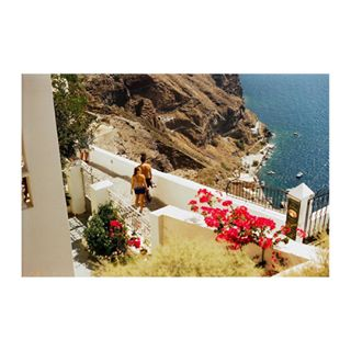 filmphoto filmisnotdead vulcano greece film shootfilm pink 35 filmphotography iusefilm kodakfilm minoltasrt101 white santorini view holiday sea couple minolta filmisalive flowers 35mm travel people greece💙 vacation island greece🇬🇷 kodak summer