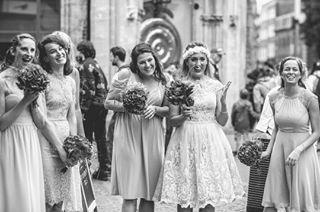 bridesmaids excited prewedding bridesmaiddresses moments cambridge citywedding