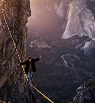 roamtheplanet camp4 yosemitevalley slacklife taftpoint roam notscaredatall highlining explore highline slacklining