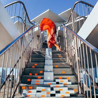 japanesesweets collaboration art sweet installation photographerintokyo pressbuttersand anniversary 東京 orange exhibition