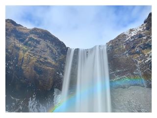 rainbow earth_shotz iceland skodafoss travelphotography welivetoexplore travel landscapephotography cascada