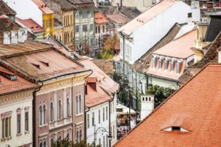 architecture attraction city colorfull goodtimes history house medieval photography romaniacountry roofs rotrip sibiu street transilvanya travel urban