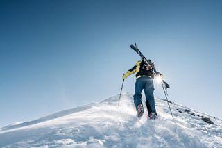 waitingformoresnow exploring freeride ski walkup whatawinter bluebird mountains