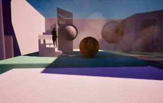 digitalart concept render decor 3d 3dabstract space abstractart abstract surrealism planets scenography setdesign nowadays