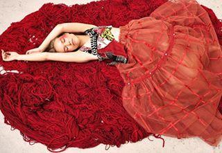 fashion blonde male romanticism fashionphotography female beauty designer makeup red editorial knitwear romantic models love photography couple portrait