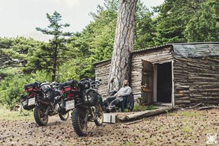 forest mountains wild adventure cabin explore hunter gem hidden instagram motolife travelphotography nikon klimlife greece trails motorcycle tours mythicalroutes travelgram woods makelifearide