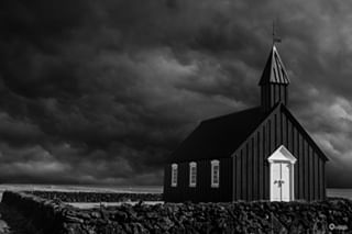 archive church black iceland sweet tiny clouds travel