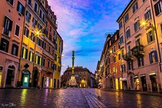 sunrise italy colorful citytrip street morning rome architecture city spanishsteps summer