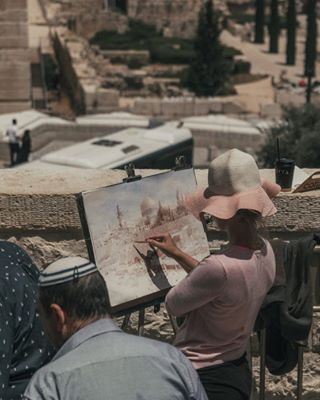 jerusalem artoftheday art paints israel